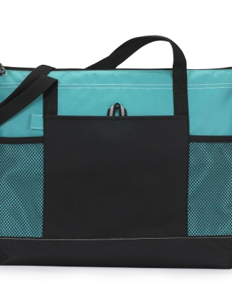 1100 Gemline Select Zippered Tote TURQUOISE