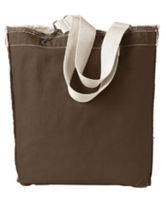 1906 Authentic Pigment 14 oz. Direct-Dyed Raw-Edge Tote JAVA
