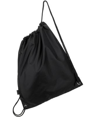 4921 Gemline Polyester Cinchpack BLACK