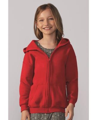 G186B Gildan Youth 7.75 oz. Heavy Blend™ 50/50 Full-Zip Hood