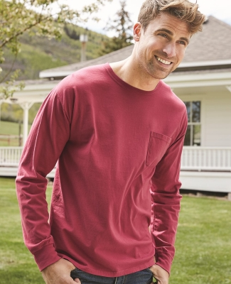 Comfort Wash GDH250 Garment Dyed Long Sleeve T-Shirt With a Pocket