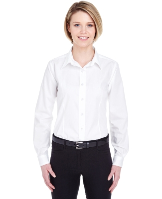 UltraClub 8355L Ladies' Easy-Care Broadcloth WHITE