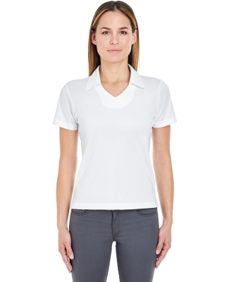8407  UltraClub® Ladies' Cool & Dry Sport Mesh Performance Pullover WHITE
