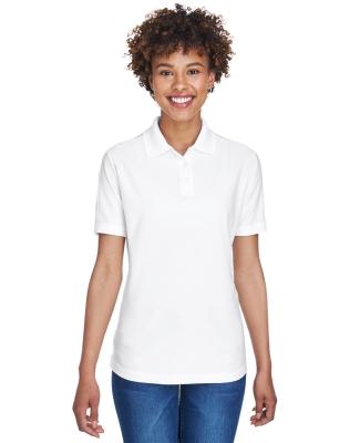8414 UltraClub® Ladies' Cool & Dry Elite Performance Polo  WHITE
