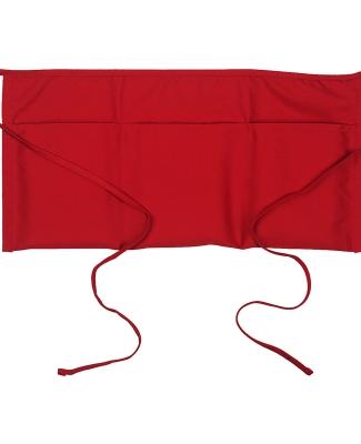 """APR50 Big Accessories Three-Pocket 10"""" Waist Apron RED"""