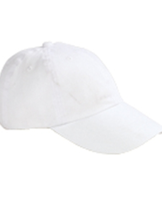 Big Accessories BX001Y Youth Youth 6-Panel Brushed Twill Unstructured Cap WHITE