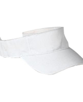 BX006 Big Accessories Cotton Twill Visor WHITE