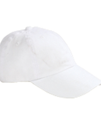 Big Accessories BX008 Brushed Twill Unstructured Dad Hat WHITE