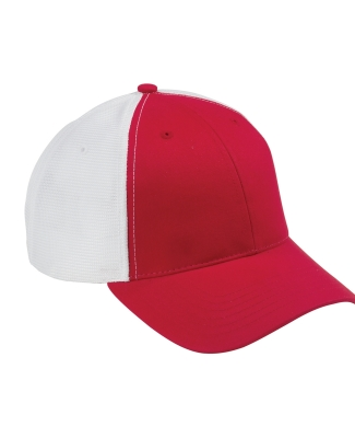 OSTM Big Accessories Old School Baseball Cap with Technical Mesh RED/ WHITE