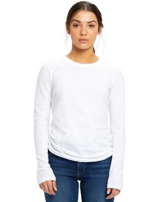US Blanks US190 Women's Long Sleeve Tee WHITE