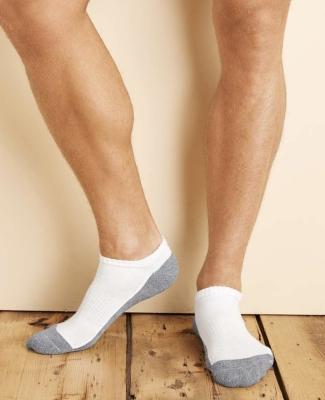 Gildan GP711 Platinum No Show Socks (Black) WHITE