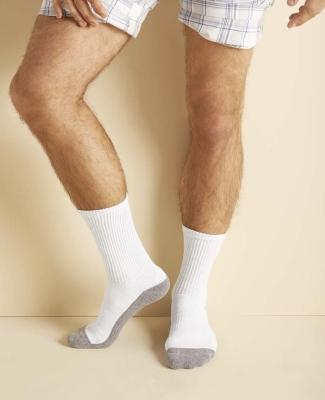 Gildan GP751 Platinum Crew Socks (White) WHITE