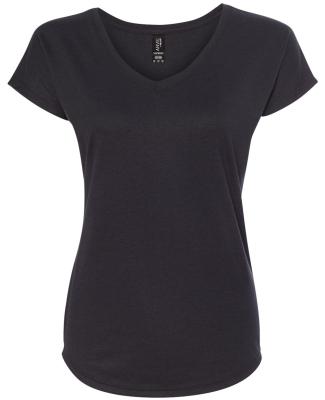 6750VL Anvil - Ladies' Triblend V-Neck T-Shirt  BLACK