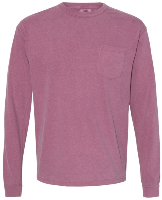4410 Comfort Colors - Long Sleeve Pocket T-Shirt BERRY