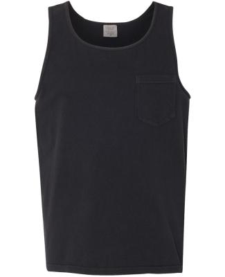 9330 Comfort Colors Adult Pocket Tank Top BLACK