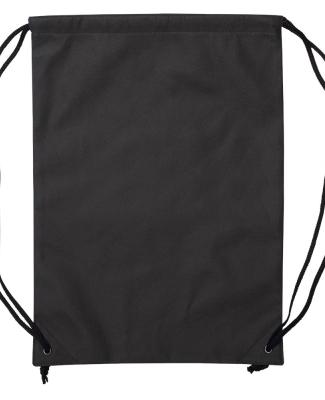 Liberty Bags A136 Non-Woven Drawstring Backpack BLACK