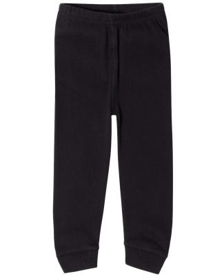 Rabbit Skins 102Z Baby Rib Infant Pajama Pants BLACK