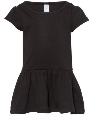 Rabbit Skins 5323 Toddler Baby Rib Dress BLACK