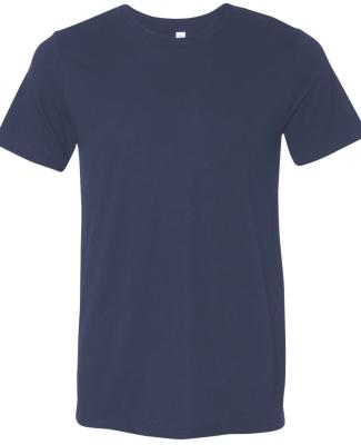 BELLA+CANVAS 3413 Unisex Howard Tri-blend T-shirt NAVY TRIBLEND