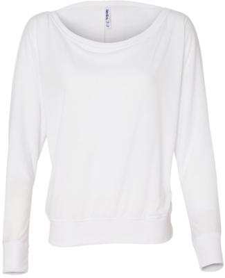 BELLA 8850 Womens Long Sleeve Dolman Top WHITE