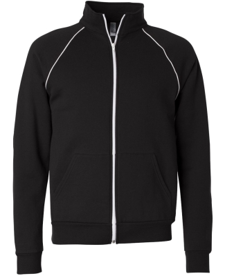 Canvas 3710 Mens Piped Track Jacket BLACK/ WHITE