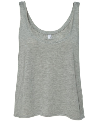 BELLA 8880 Womens Cropped Tank Top ATHLETIC HEATHER