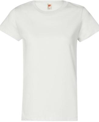 5680 Hanes® Ladies' Heavyweight T-Shirt WHITE