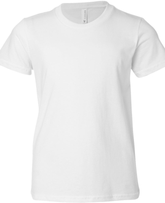 BELLA+CANVAS 3001Y Jersey Youth T-Shirt WHITE