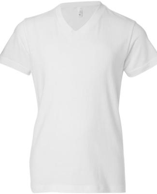 BELLA+CANVAS 3005Y Youth V-Neck T-Shirt WHITE