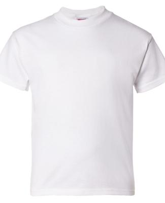 5480 Hanes® Heavyweight Youth T-shirt WHITE