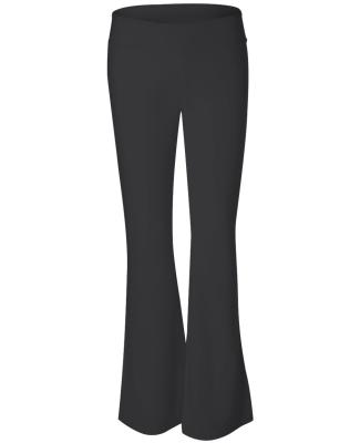 BELLA 810 Womens Cotton/Spandex Workout Pants BLACK