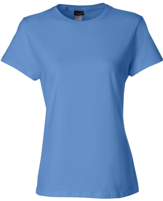 Hanes Ladies Nano T Cotton T Shirt SL04 CAROLINA BLUE