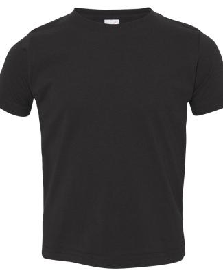 3321 Rabbit Skins Toddler Fine Jersey T-Shirt BLACK