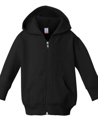 3446 Rabbit Skins Infant Zipper Hooded Sweatshirt BLACK