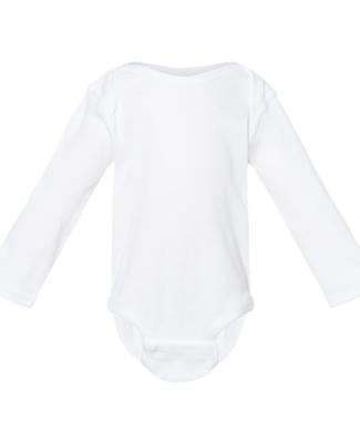 4411 Rabbit Skins Infant Baby Rib Long-Sleeve Cree WHITE