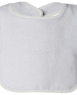 R1003 Rabbit Skins Rabbit Skins Infant Terry Snap  WHITE/ WHITE