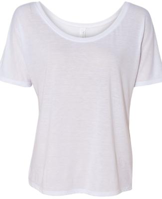 BELLA 8816 Womens Loose T-Shirt WHITE