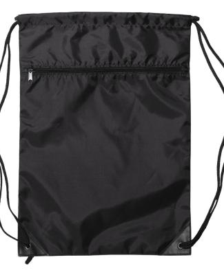 8888 Liberty Bags - Denier Nylon Zippered Drawstri BLACK