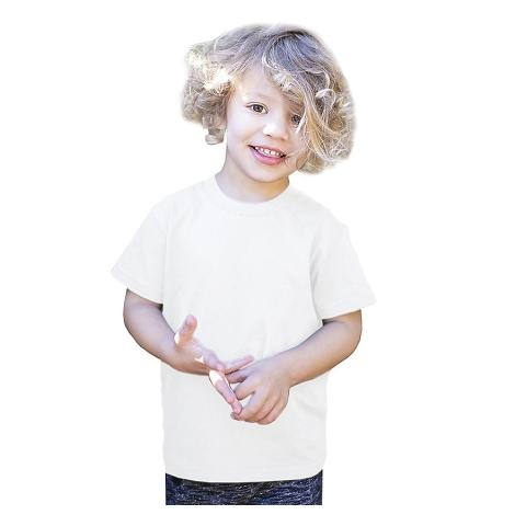 Toddler Organic Cotton Crewneck T-Shirt White