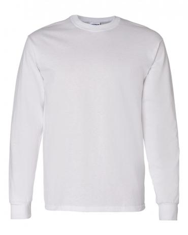 5400 Gildan Adult Heavy Cotton Long-Sleeve T-Shirt WHITE