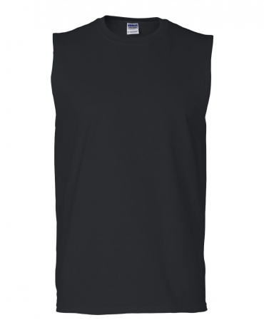 2700 Gildan Adult Ultra Cotton Sleeveless T-Shirt BLACK
