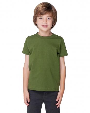 2105 American Apparel Kids Fine Jersey Short Sleeve T OLIVE