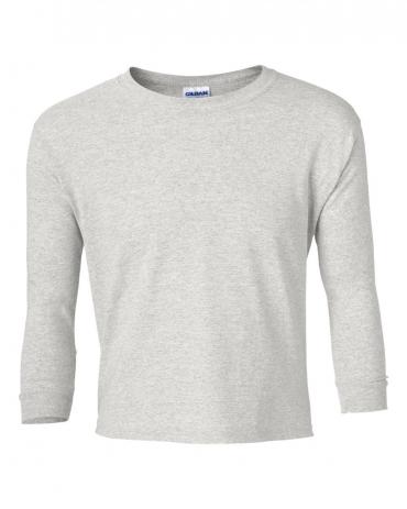 2400B  Gildan Youth 6.1 oz. Ultra Cotton® Long-Sleeve T-Shirt ASH GREY