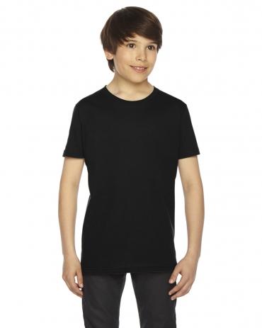 2201 American Apparel Unisex Youth Fine Jersey S/S Tee BLACK