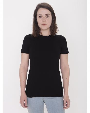 American Apparel 23215OW Ladies' Organic Fine Jersey Classic T-Shirt BLACK