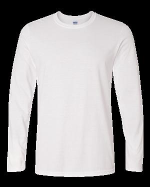 64400 Gildan Adult Softstyle Long-Sleeve T-Shirt WHITE