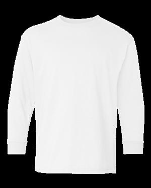 5400B Gildan Youth Heavy Cotton Long Sleeve T-Shirt WHITE