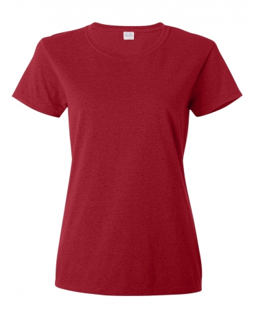 5000L Gildan Missy Fit Heavy Cotton T-Shirt ANT CHERRY RED