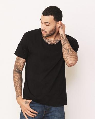 BELLA+CANVAS 3406 Mens Wide Neck Jersey T-Shirt Catalog