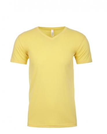 Next Level 6440 Premium Sueded V-Neck T-shirt BANANA CREAM